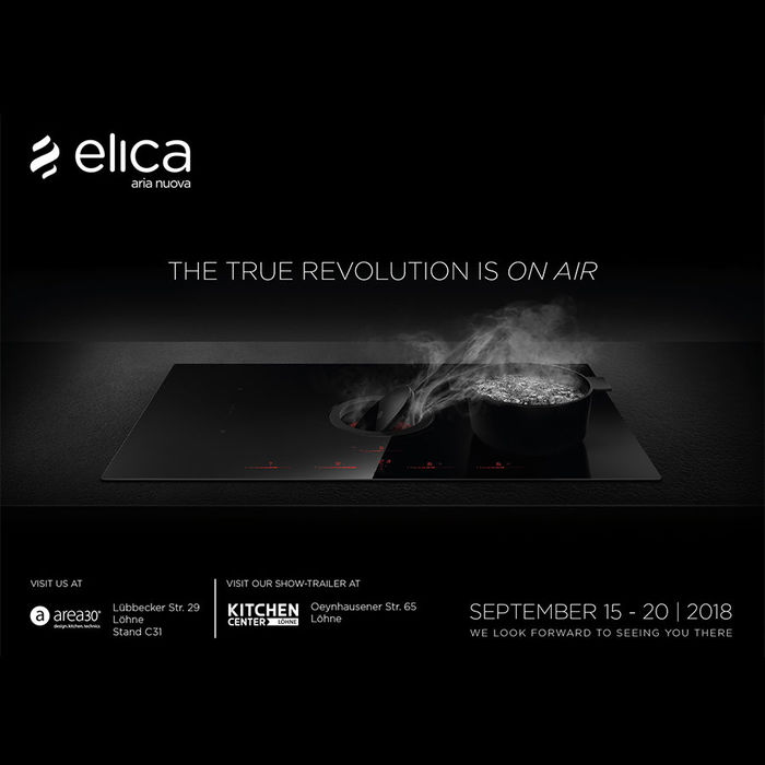 Elica premieres new products at Area30 2018